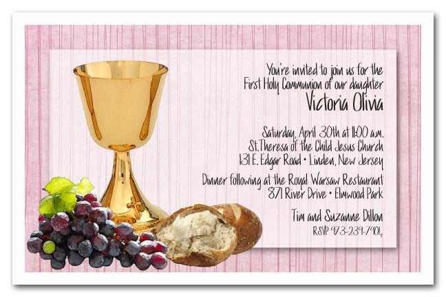 Chalice & Bread on Pink