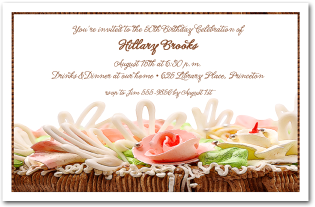 Hors doeuvres invitation dessert invitations appetizers invitations chocolate cake roses stopboris Choice Image
