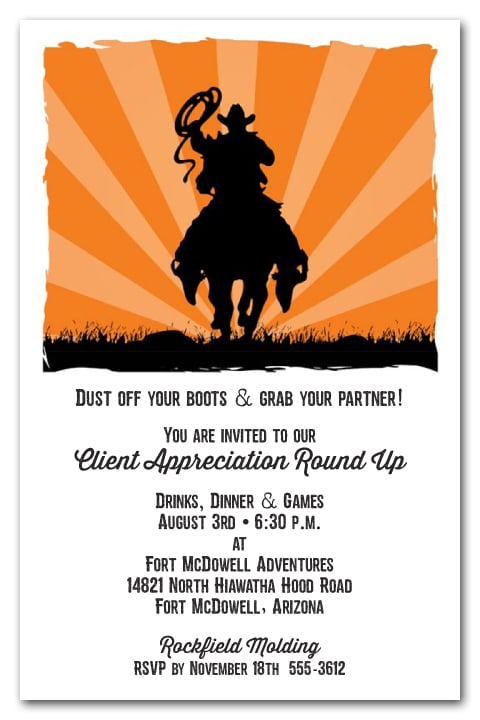 western party invitations southwest party invitations