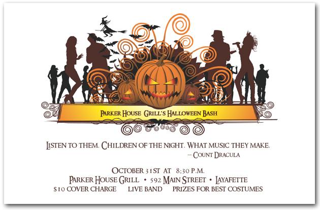 Dance Crowd Halloween Invitations