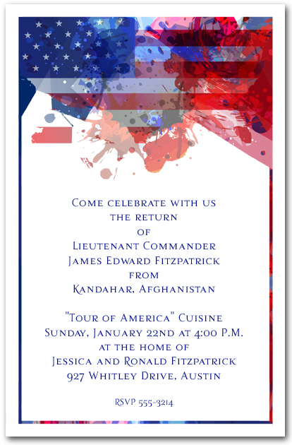 freedom patriotic event invitations
