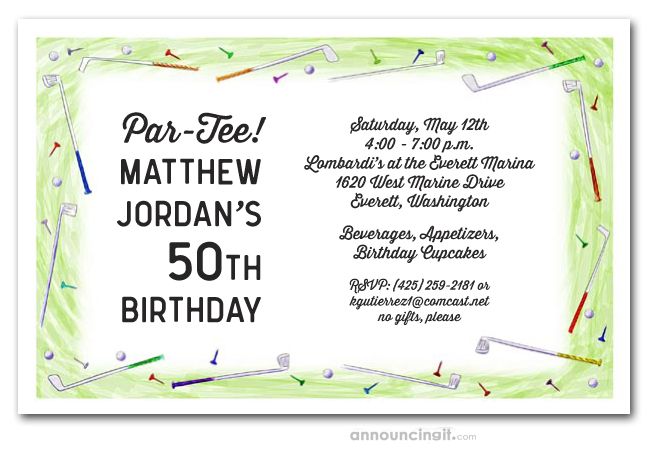 Mens Party Invitations Mans Birthday