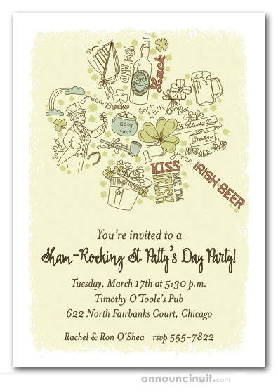 Good To Be Irish St Patrick S Day Party Invitations