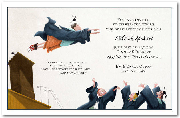 flying high graduation party invitations graduation announcements