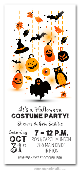 Do It Yourself Home Design: Happy Owl 'o Ween Halloween Party Invitations