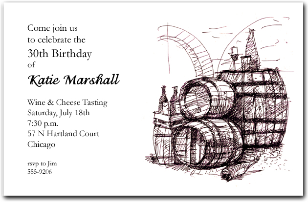 inked wine barrels invitation wine invitations wine tasting
