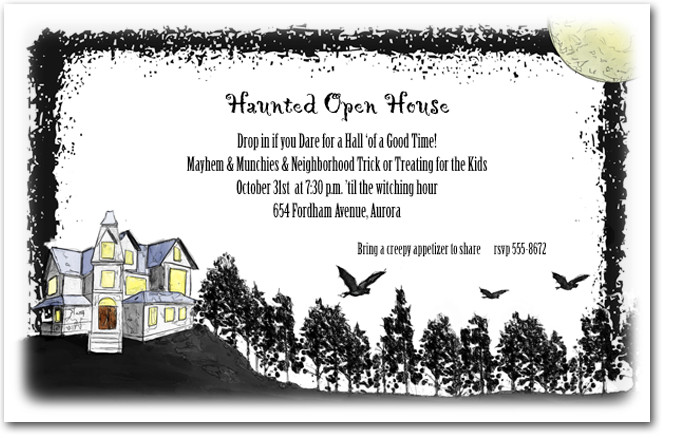 halloween haunted house invitations  haunted house