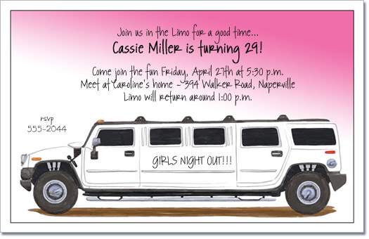 Hummer limo party invitation limo invitation surprise party stopboris Images