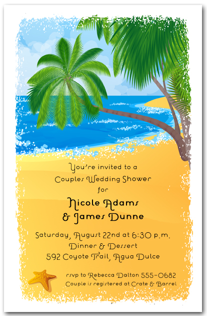 palms on the shore tropical invitations beach invitations tropical
