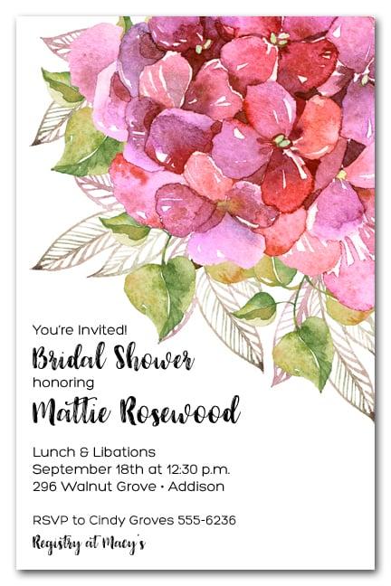 pink hydrangea bridal