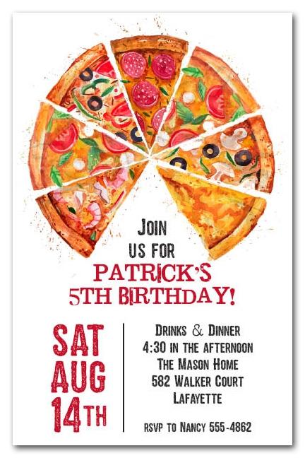 Make Mine A Pizza Supreme Party Invitations