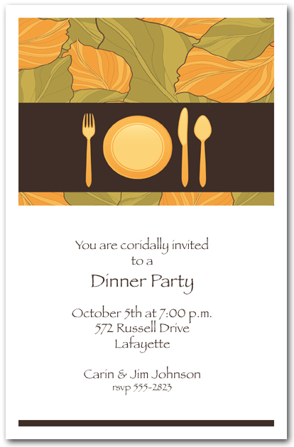 invitation wording for dinner party