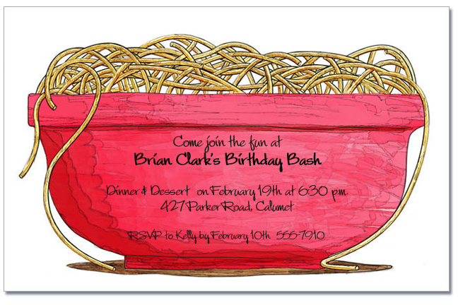 italian pasta party invitations italian restaurant invitations