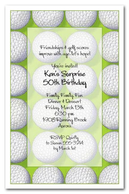 Score Golf Party Invitations