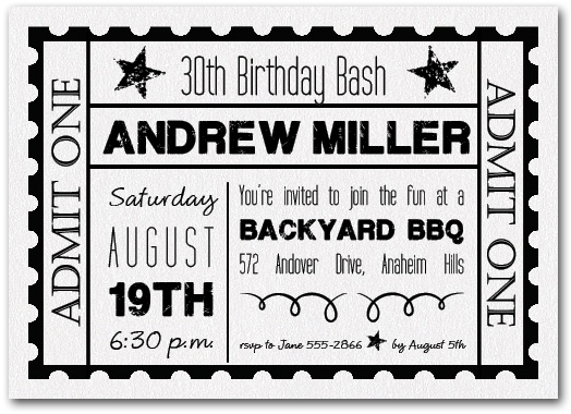 Sparkle white ticketed party invitations sparkle white ticketed party filmwisefo