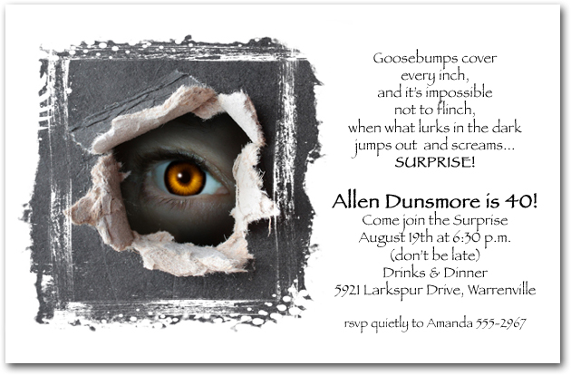 Someones Watching Party Invitations Surprise Birthday
