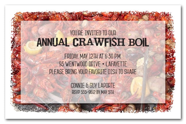 Crawfish Boil Party Invitations Low Country Boil Invitations
