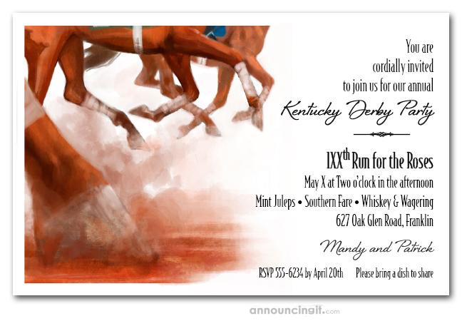 Thundering Horses Racing Invitations