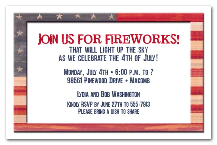 american flag party invitation 4th of july party invitations at