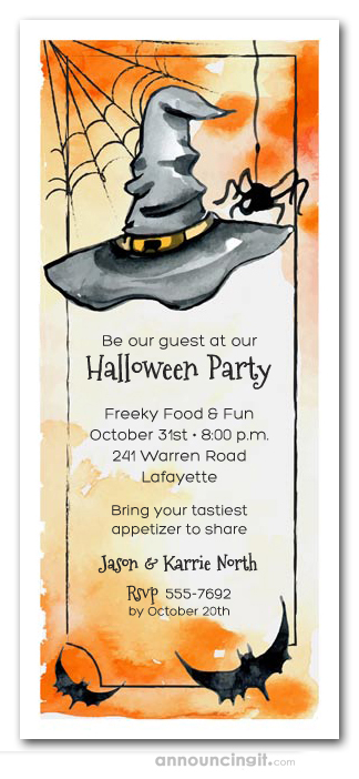 wicked ways halloween party invitations