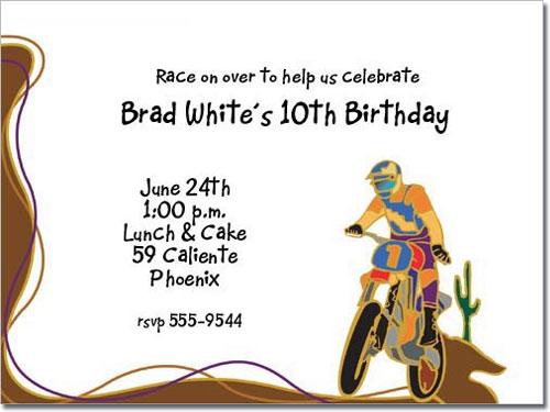 Dirt bike invitation motorcycle invitations birthday party invitations dirt bike filmwisefo