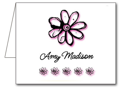 Note Cards: Daisy Pink