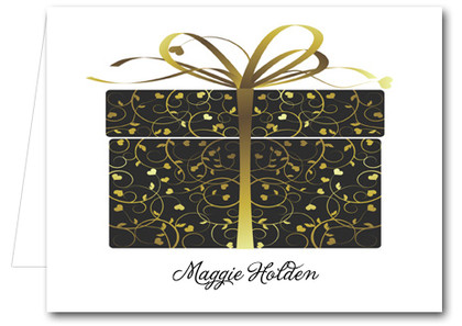 Note Cards: Black and Gold Gift Box