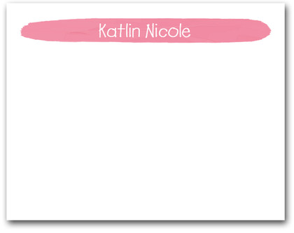 Brushed Rose Pink Flat Note