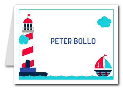 Note Cards: Nautical Kids