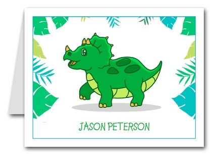Note Cards: Triceratops Dinosaur