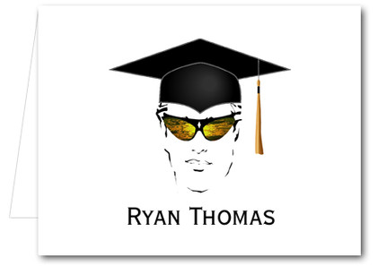 Note Cards: Shades Male Grad