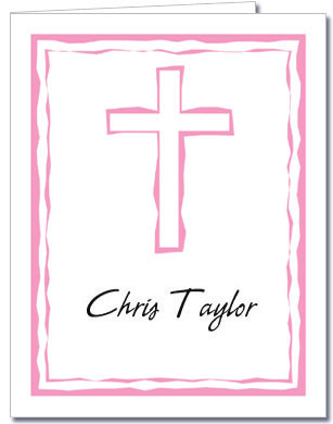 Abstract Cross Pink Notes
