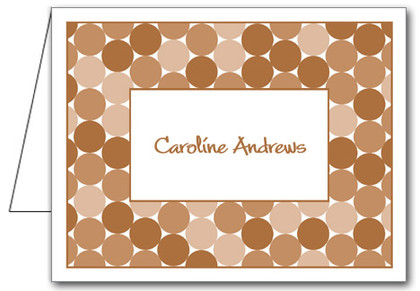 Note Cards: Circles/Brown