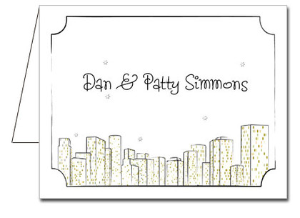 Note Cards: City Skyline
