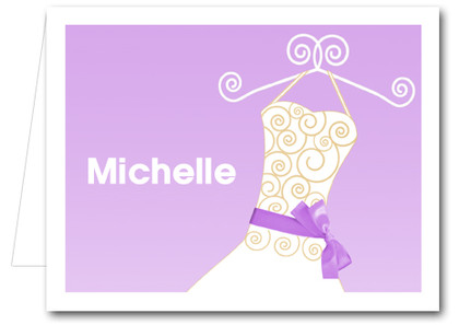 Note Cards: Lilac Ribboned Dress