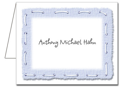 Note Cards: Stitched Blue