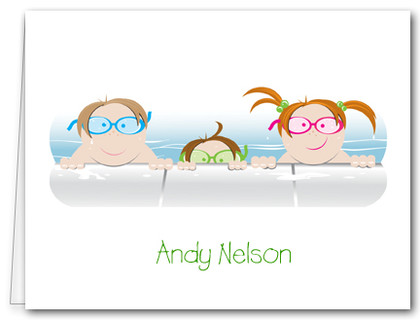 Note Cards: Kids in the Pool