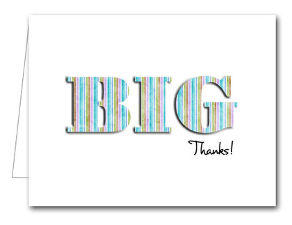 Note Cards: BIG Thanks Earth Stripes