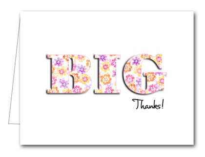 Note Cards: BIG Thanks Flower Power