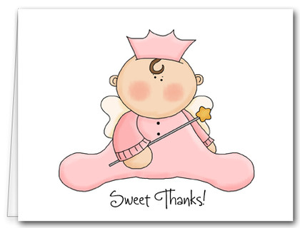 Note Cards: Angel Baby Pink