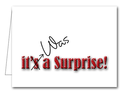 Note Cards: Red Dot Surprise Party