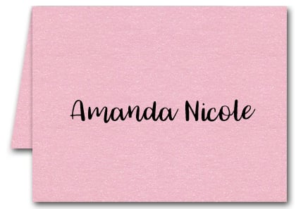 Note Cards: Shimmery Pink
