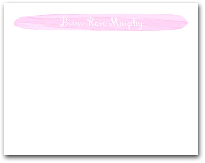 Brushed Baby Pink Flat Note