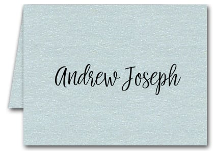Note Cards: Shimmery Aqua Blue