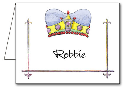 Note Cards: Crowned Blue