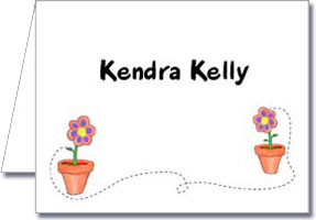 Flower Pots Notecard