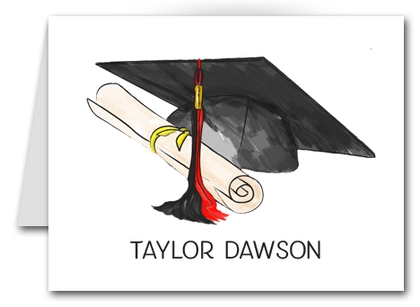 Note Cards: Black-Red Graduation