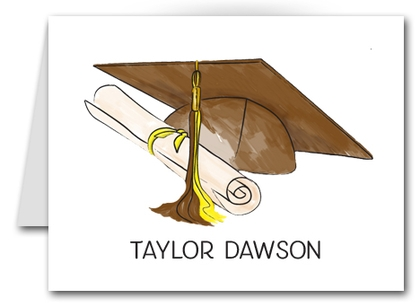 Note Cards: Brown-Yellow Graduation