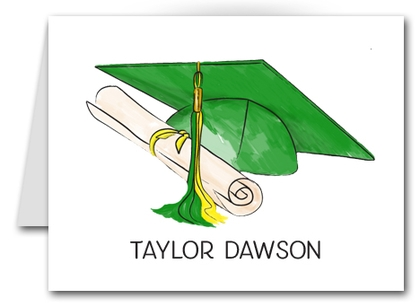 Note Cards: Green-Yellow Graduation