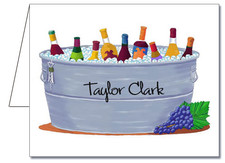Note Cards: Bucket of Wine